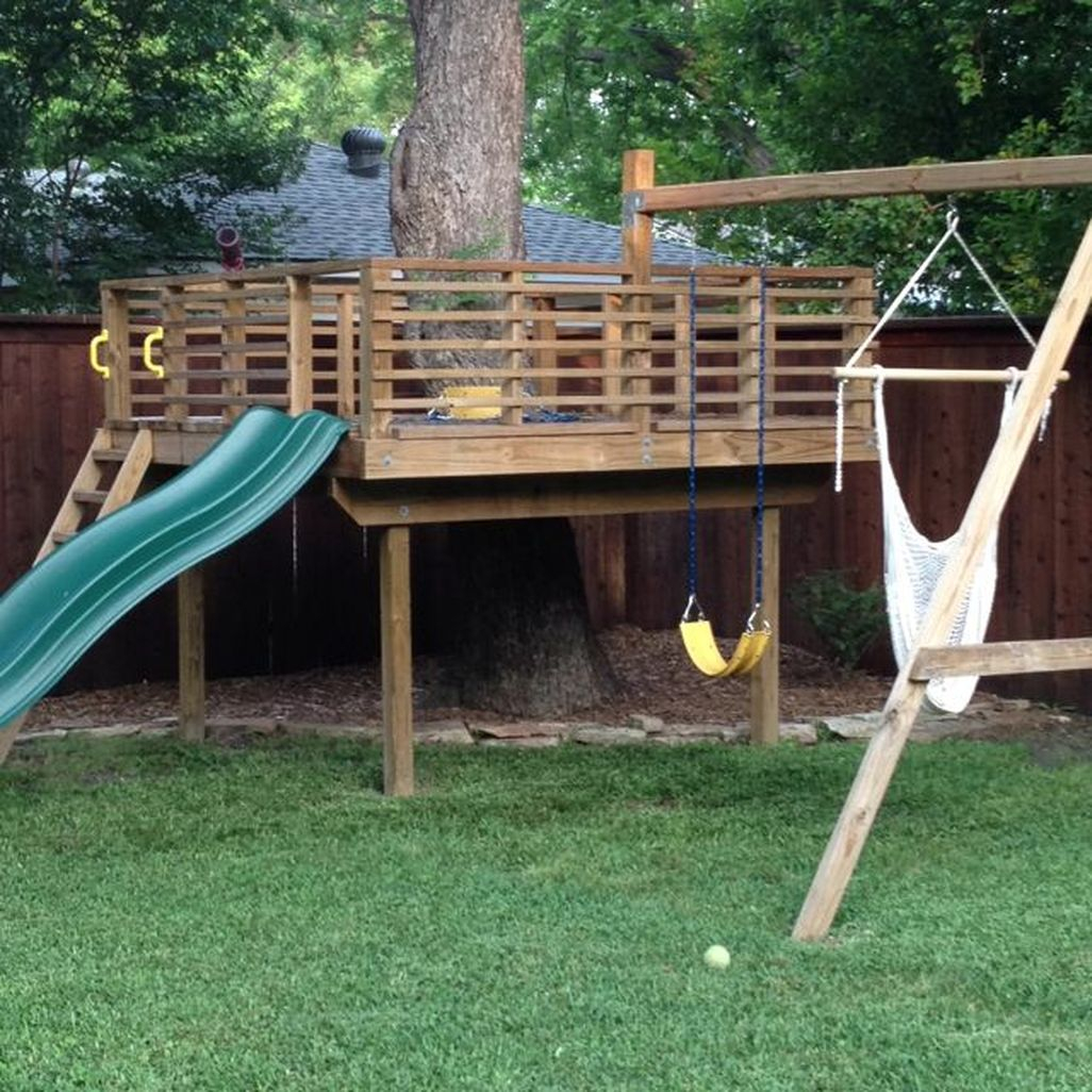 Inspiring Simple Diy Treehouse Kids Play Ideas 34