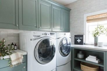 Modern Basement Remodel Laundry Room Ideas 02