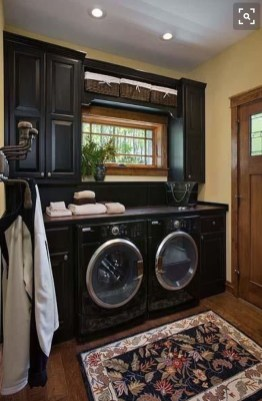 Modern Basement Remodel Laundry Room Ideas 08