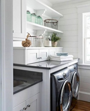 Modern Basement Remodel Laundry Room Ideas 22