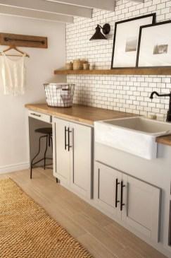 Modern Basement Remodel Laundry Room Ideas 23
