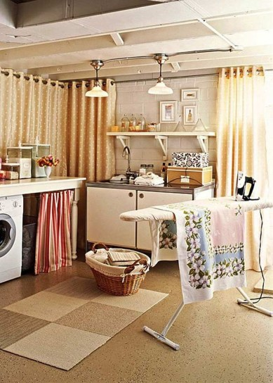 Modern Basement Remodel Laundry Room Ideas 26