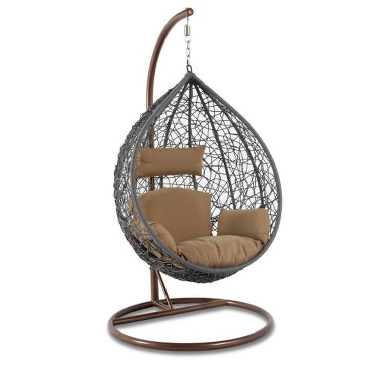 Modern Hanging Swing Chair Stand Indoor Decor 05