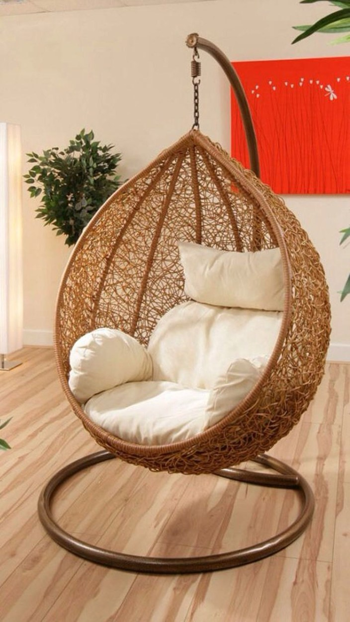 Modern Hanging Swing Chair Stand Indoor Decor 11