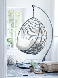 Modern Hanging Swing Chair Stand Indoor Decor 13