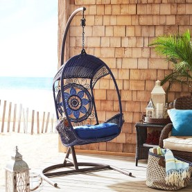 Modern Hanging Swing Chair Stand Indoor Decor 23