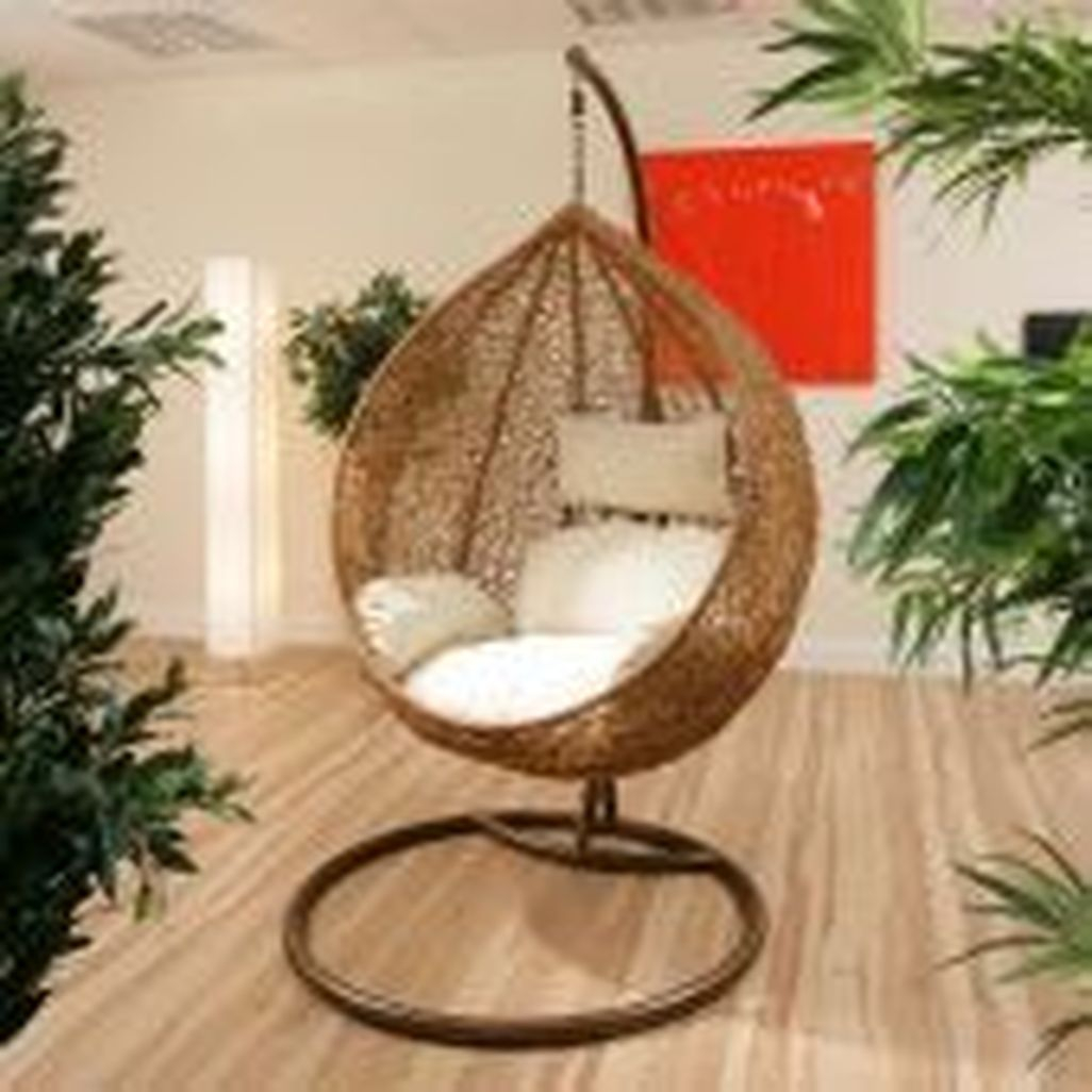 Swinging Chair 41 Modern Hanging Swing Chair Stand Indoor Decor Homishome