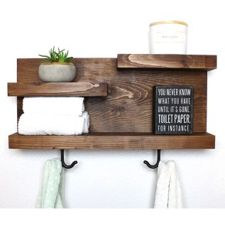 Rustic Country Bathroom Shelves Ideas Must Try 12
