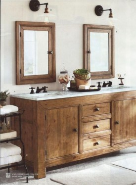 Rustic Country Bathroom Shelves Ideas Must Try 20