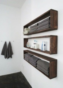 Rustic Country Bathroom Shelves Ideas Must Try 26