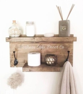 Rustic Country Bathroom Shelves Ideas Must Try 32