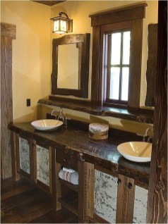 Rustic Country Bathroom Shelves Ideas Must Try 33
