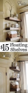 Rustic Country Bathroom Shelves Ideas Must Try 36