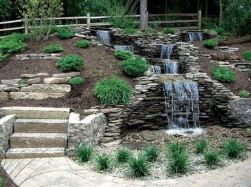 Awesome Small Waterfall Pond Landscaping Ideas Backyard35