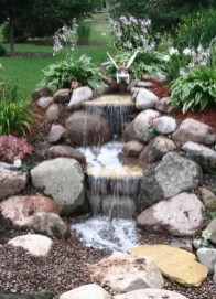 Awesome Small Waterfall Pond Landscaping Ideas Backyard36