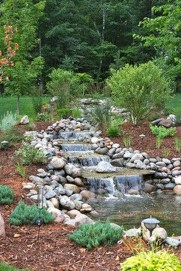 Awesome Small Waterfall Pond Landscaping Ideas Backyard39