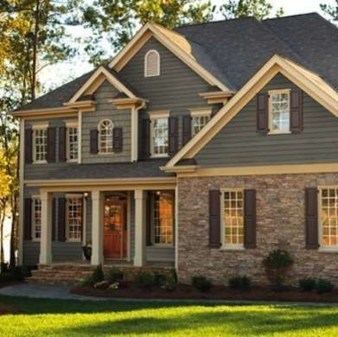 Ideas To Make Your Home Look Elegant With Vinyl Siding Color34