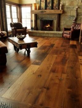 Inspiring Rustic Wooden Floor Living Room Design07