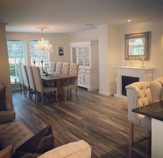 Inspiring Rustic Wooden Floor Living Room Design24