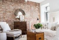 Ispiring Rustic Elegant Exposed Brick Wall Ideas Living Room05