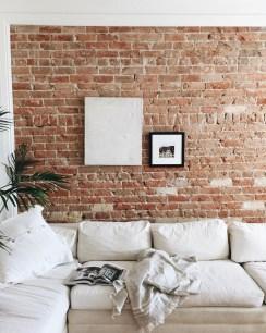 Ispiring Rustic Elegant Exposed Brick Wall Ideas Living Room08