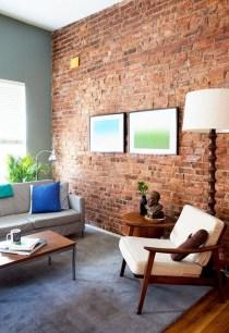 Ispiring Rustic Elegant Exposed Brick Wall Ideas Living Room10