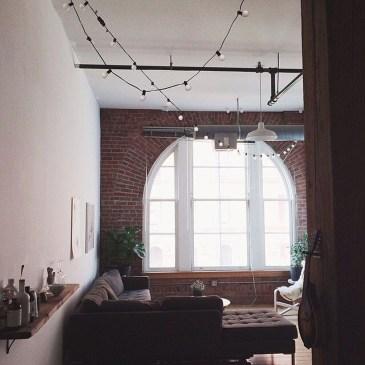 Ispiring Rustic Elegant Exposed Brick Wall Ideas Living Room15