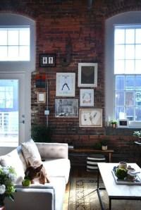 Ispiring Rustic Elegant Exposed Brick Wall Ideas Living Room20