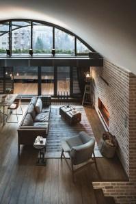 Ispiring Rustic Elegant Exposed Brick Wall Ideas Living Room21