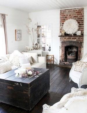 Ispiring Rustic Elegant Exposed Brick Wall Ideas Living Room22