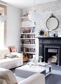 Ispiring Rustic Elegant Exposed Brick Wall Ideas Living Room28