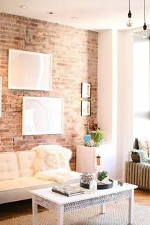 Ispiring Rustic Elegant Exposed Brick Wall Ideas Living Room39