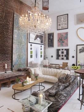 Ispiring Rustic Elegant Exposed Brick Wall Ideas Living Room45