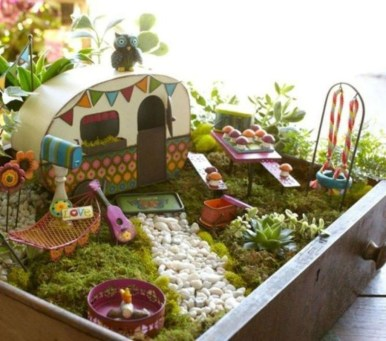 Stunning Fairy Garden Miniatures Project Ideas39