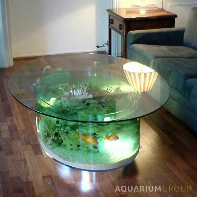 Amazing Aquarium Feature Coffee Table Design Ideas01