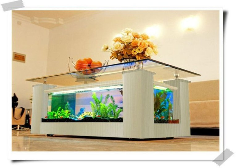 Amazing Aquarium Feature Coffee Table Design Ideas15