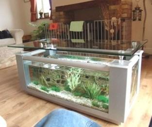 Amazing Aquarium Feature Coffee Table Design Ideas22