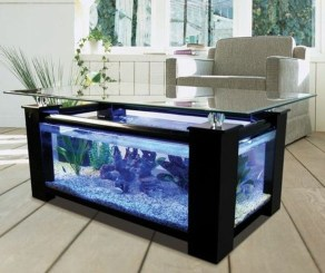 Amazing Aquarium Feature Coffee Table Design Ideas26