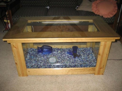 Amazing Aquarium Feature Coffee Table Design Ideas28