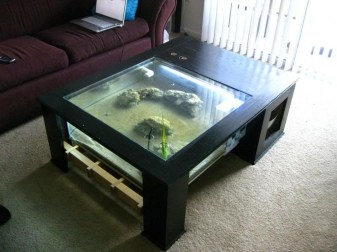 Amazing Aquarium Feature Coffee Table Design Ideas31