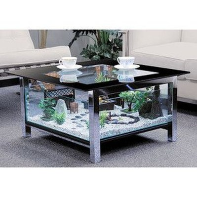 Amazing Aquarium Feature Coffee Table Design Ideas34