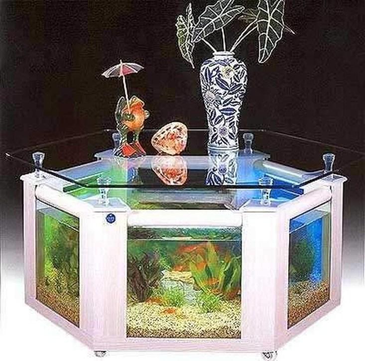 Amazing Aquarium Feature Coffee Table Design Ideas35