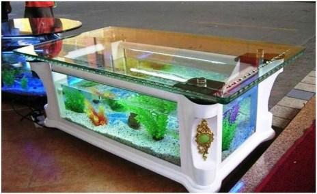 Amazing Aquarium Feature Coffee Table Design Ideas38