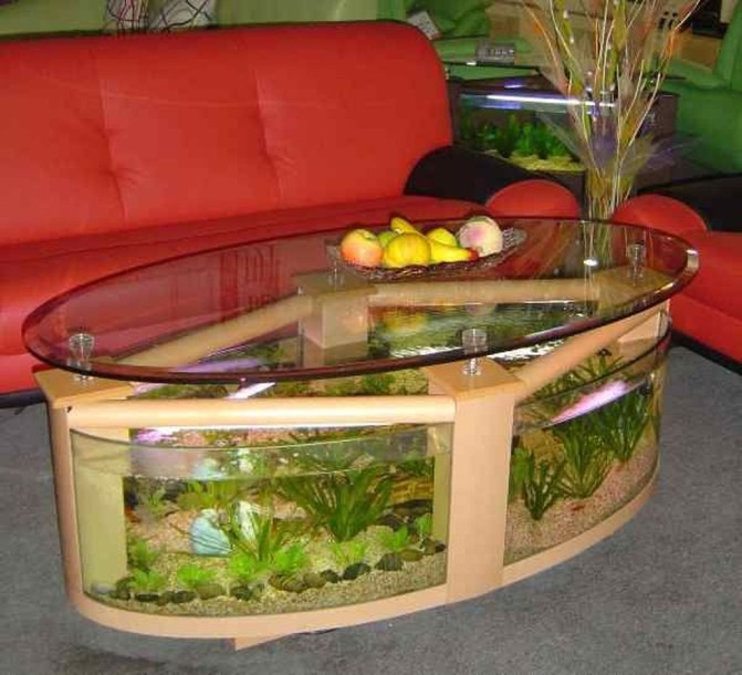 Amazing Aquarium Feature Coffee Table Design Ideas41