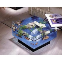 Amazing Aquarium Feature Coffee Table Design Ideas47