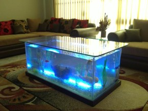 Amazing Aquarium Feature Coffee Table Design Ideas48