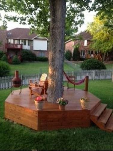 Amazing Big Tree Landscaping Ideas31