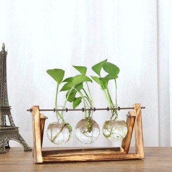 Awesome Ideas To Make Glass Jars Garden For Your Home Decor11
