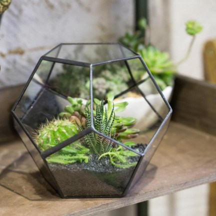 Awesome Ideas To Make Glass Jars Garden For Your Home Decor21