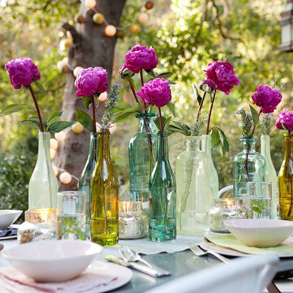 Awesome Ideas To Make Glass Jars Garden For Your Home Decor23